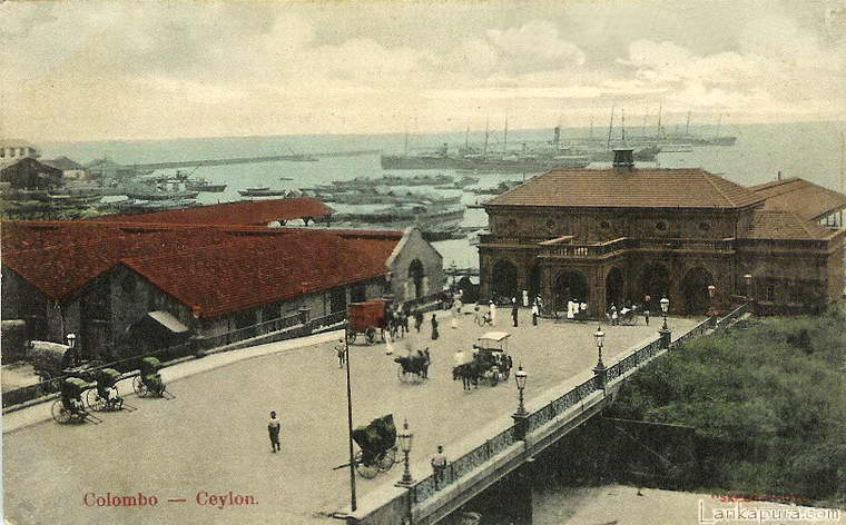 Colombo Harbour Ceylon 1908